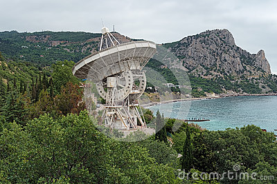 Radiotelescope of the Simeiz Observatory in Crimea