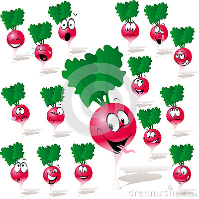 Radish cartoon