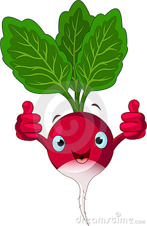 Free Radish Character Giving Thumbs Up Stock Image - 18303901