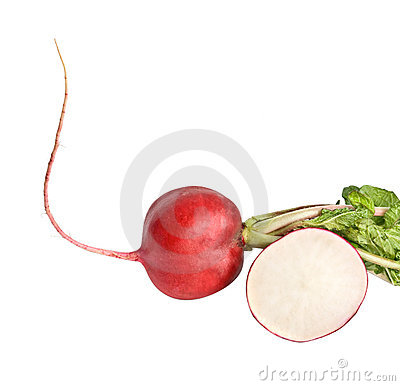 Radish with leaves