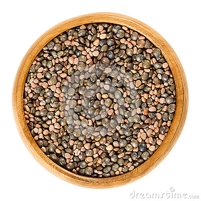 Free Radish Seeds And Green Lentils In Wooden Bowl Stock Photos - 90888883