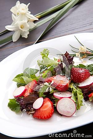 Radish Strawberry salad