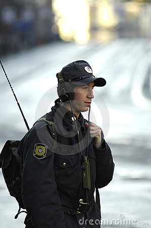 Radist on a Military Parade Editorial Stock Image