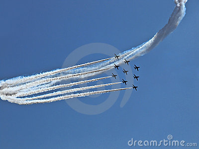 RADOM, POLAND - August 30: RAF Red Arrows (Royal A Editorial Stock Image