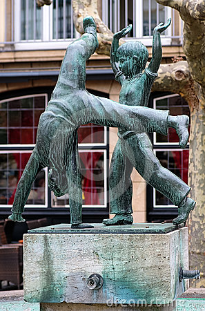 Radschlager Fountain in Dusseldorf, Germany