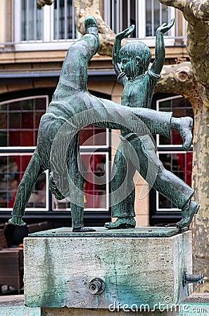 Radschlager Fountain in Dusseldorf, Germany
