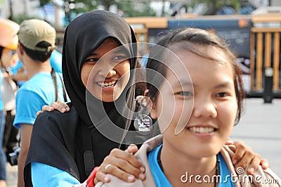 Raduno anticorruzione a Bangkok Fotografia Editoriale