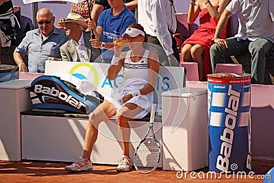 Radwanska wins 2012 WTA Brussels Open Editorial Photo