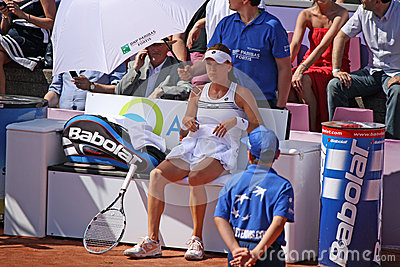 Radwanska wins 2012 WTA Brussels Open Editorial Stock Photo