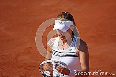 Radwanska wins 2012 WTA Brussels Open Editorial Photography