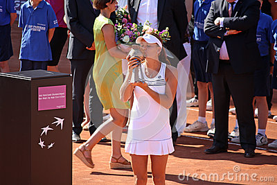 Radwanska wins 2012 WTA Brussels Open Editorial Image