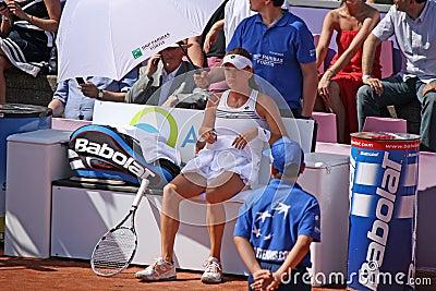 Radwanska wint 2012 WTA Open Brussel Redactionele Stock Foto
