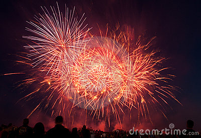 RAF Feltwell USAF Fireworks show Editorial Stock Photo