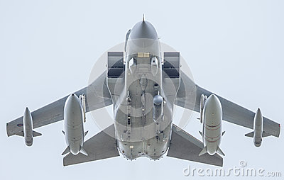 RAF fighter jet with missiles