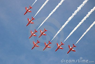 RAF Red Arrows Editorial Photography