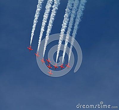RAF strzała pokazu Czerwona drużyna