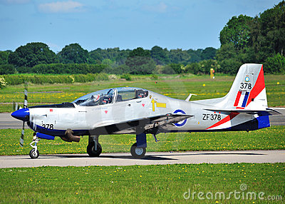 RAF Tucano in 2011 Display Colours Editorial Photo