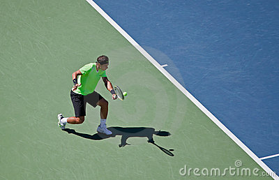 Rafael Nadal during the 2010 US Open Editorial Stock Photo