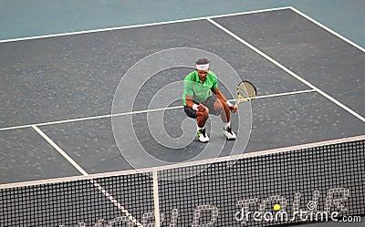 Rafael Nadal (ESP) celebrates victory Editorial Image