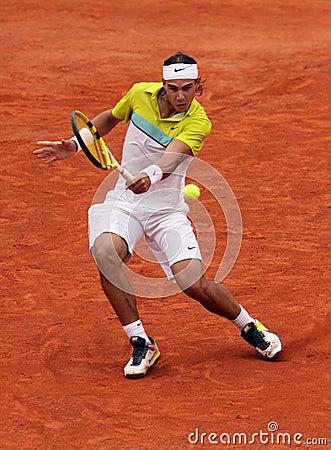 Rafael Nadal at Roland Garros 2009 Editorial Photo