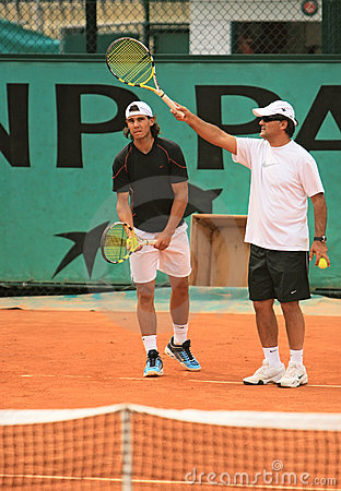 Rafael Nadal and Tony Nadal Editorial Stock Image