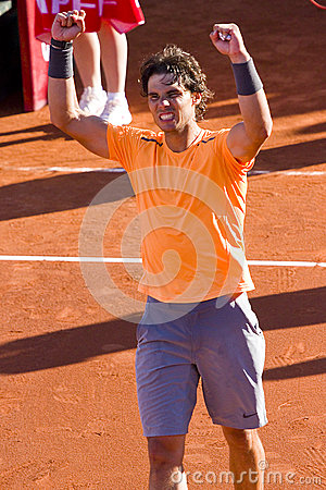 Rafael Nadal wins the match Editorial Photography