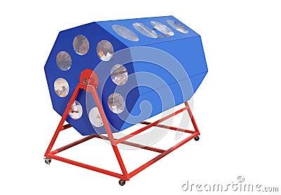 A raffle drum