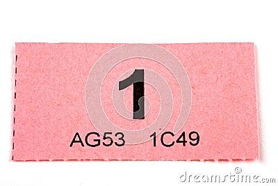Raffle Ticket Number 1 Royalty Free Stock Photo Image