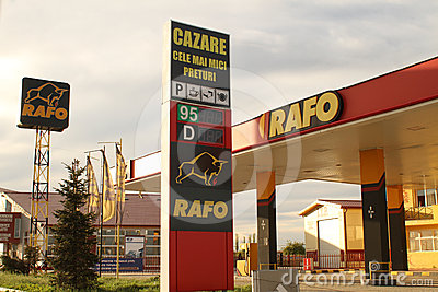 Rafo gas station Editorial Image