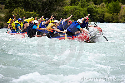 Rafting competition Editorial Photography