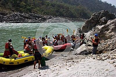 Rafting on the Ganga