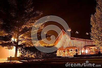 Rafting night house