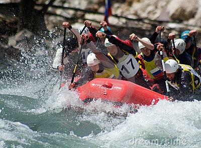 Rafting in wild water Editorial Photo