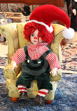 Rag Doll with Santa Hat
