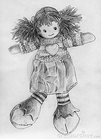Rag Doll Sketch Stock Illustration Image 44223769