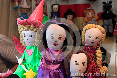 Rag dolls Editorial Stock Photo