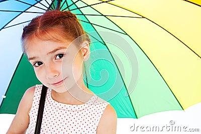 Ragazza con l ombrello