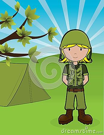 Ragazza dell esercito