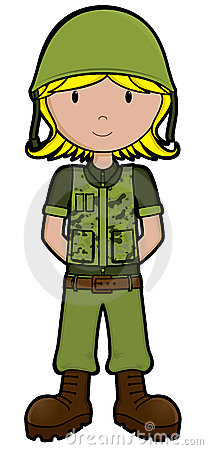 Ragazza dell esercito - vettore