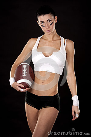 Ragazza di football americano