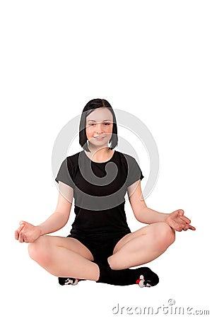 Ragazza Meditating