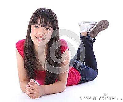 Ragazza orientale della high school dell 39 adolescente che for Pavimento giapponese