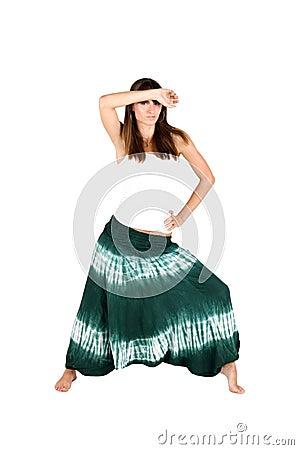 Ragazza in vestiti etnici fotografia stock immagine for Vestiti etnici