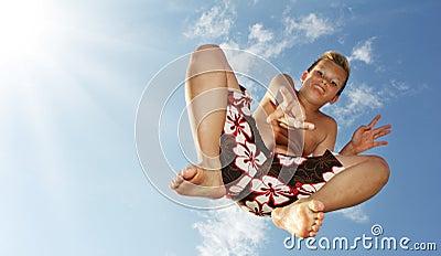 Ragazzo di salto