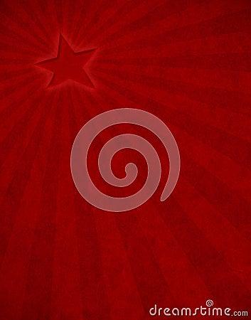 Raggio di sole rosso della stella