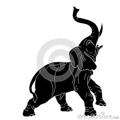 Raging elephant