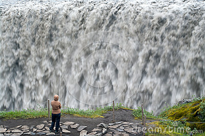 Raging waterfalls Editorial Stock Photo