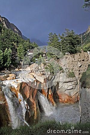 Free Raging Wild Torrent Waterfall Gangotri India Stock Image - 929871