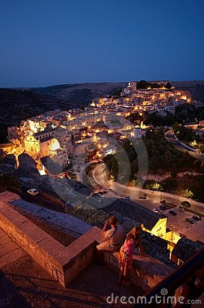 Ragusa at dusk