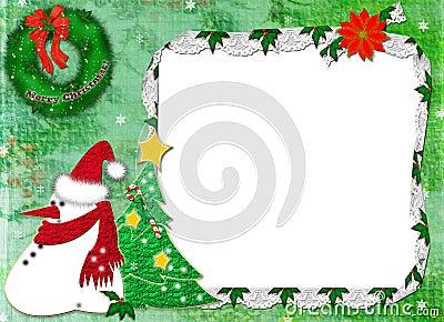 rahmen f r ein foto f r weihnachten stockfotos bild. Black Bedroom Furniture Sets. Home Design Ideas